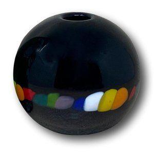 ON HOLD - Murano Style Rainbow Glass Sphere …